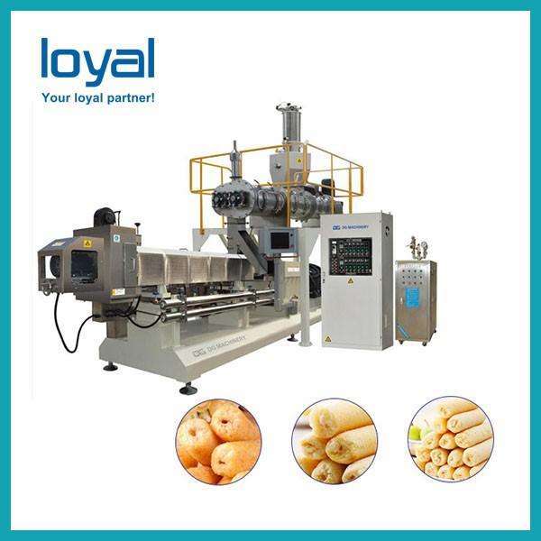 Corn Flakes Cereal Snacks Food Frying Chips Making Machine Pellet Food Double Screw Puff Feed Cheese Ball Processing Extruder Artificial Rice Soyabean Price #2 image